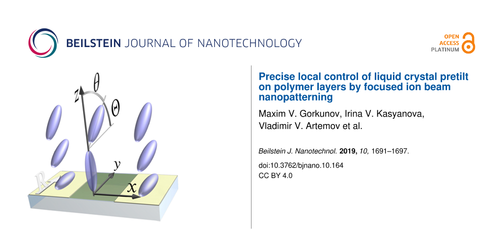 Precise local control of liquid crystal pretilt on polymer layers by