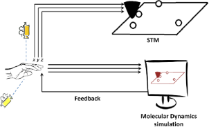 Intuitive human interface to a scanning tunnelling microscope