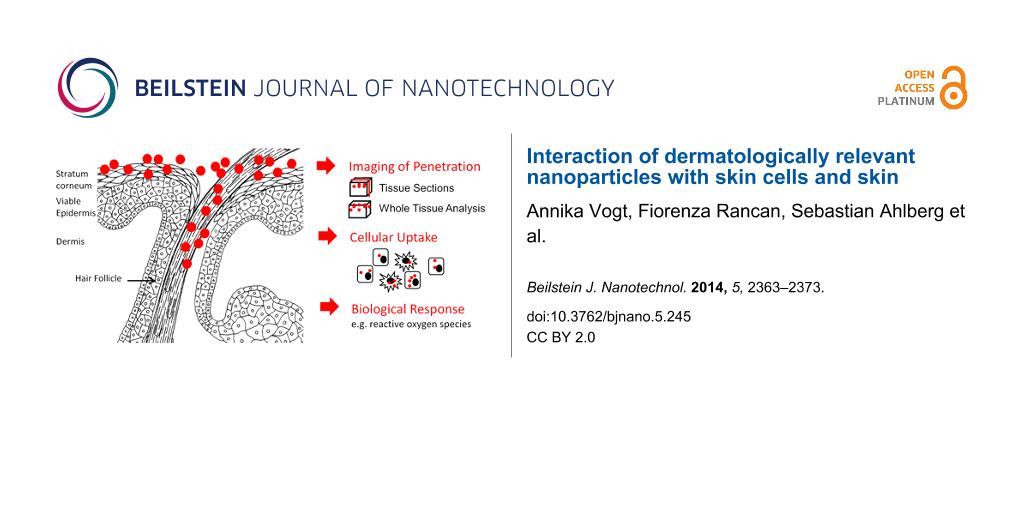 Skin penetration studies