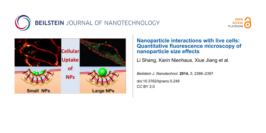 Nanoparticle Interactions With Live Cells Quantitative Fluorescence