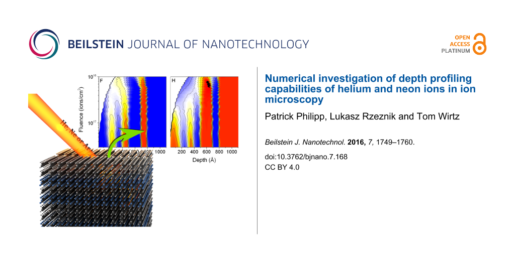 Numerical investigation of depth profiling capabilities of helium