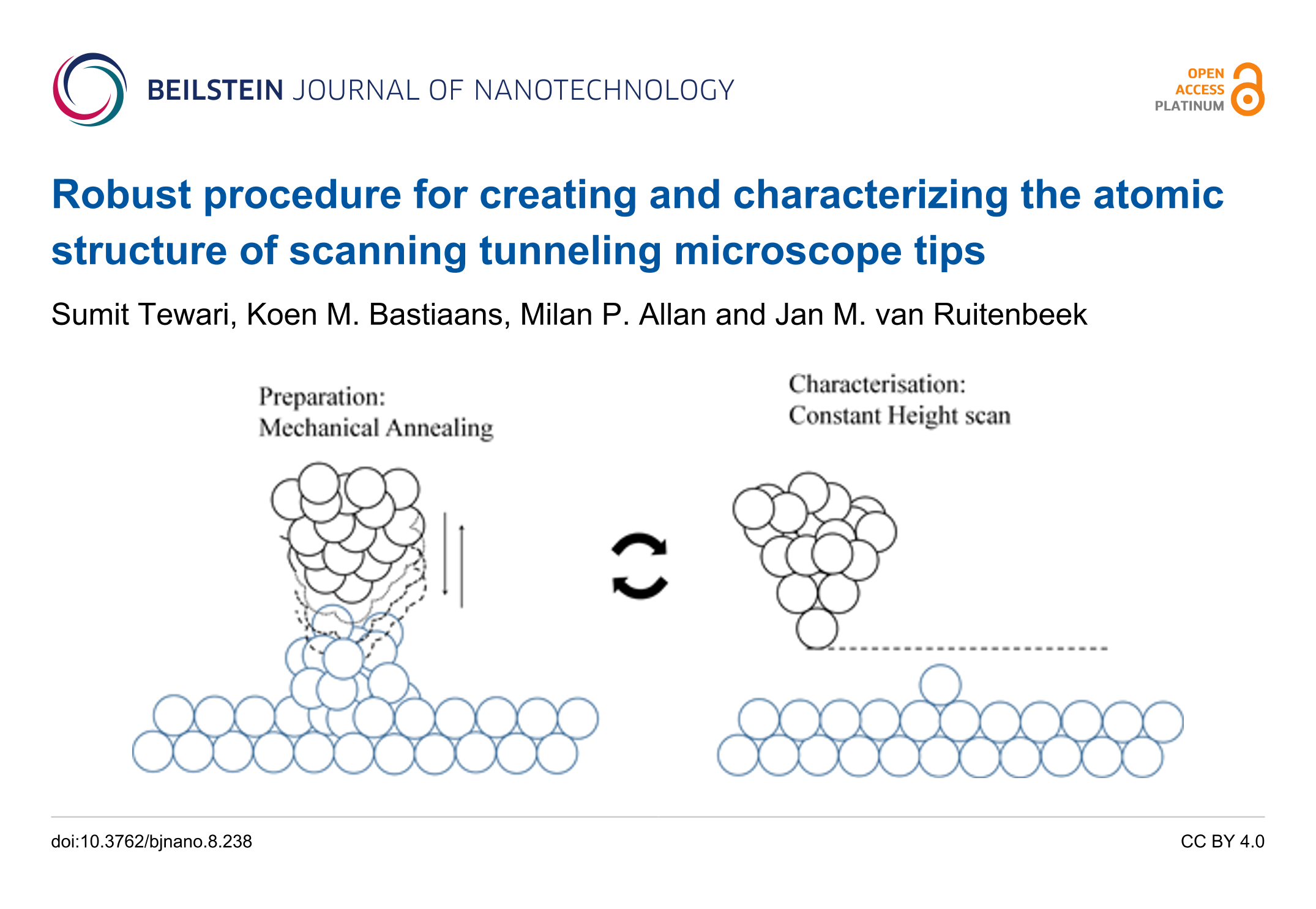 Robust procedure for creating and characterizing the atomic