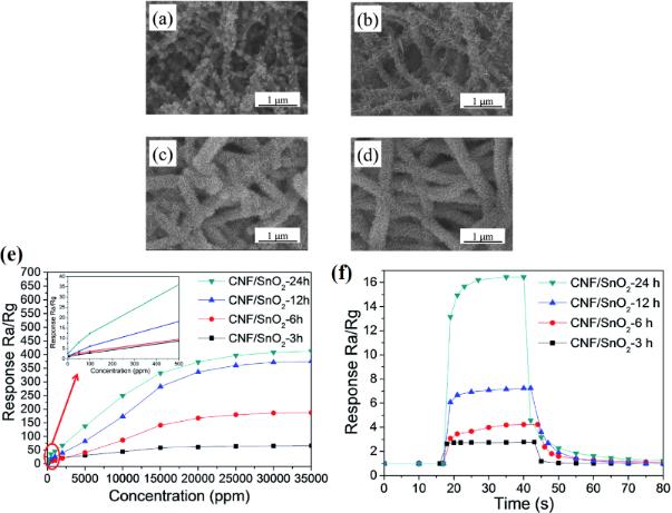 Electrospun one-dimensional nanostructures: a new horizon for gas