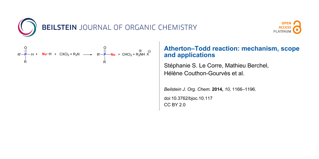 Atherton–Todd reaction: mechanism, scope and applications