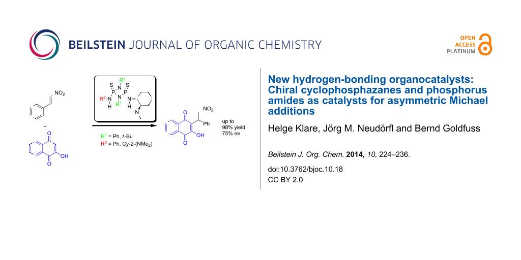 New hydrogen-bonding organocatalysts: Chiral cyclophosphazanes and