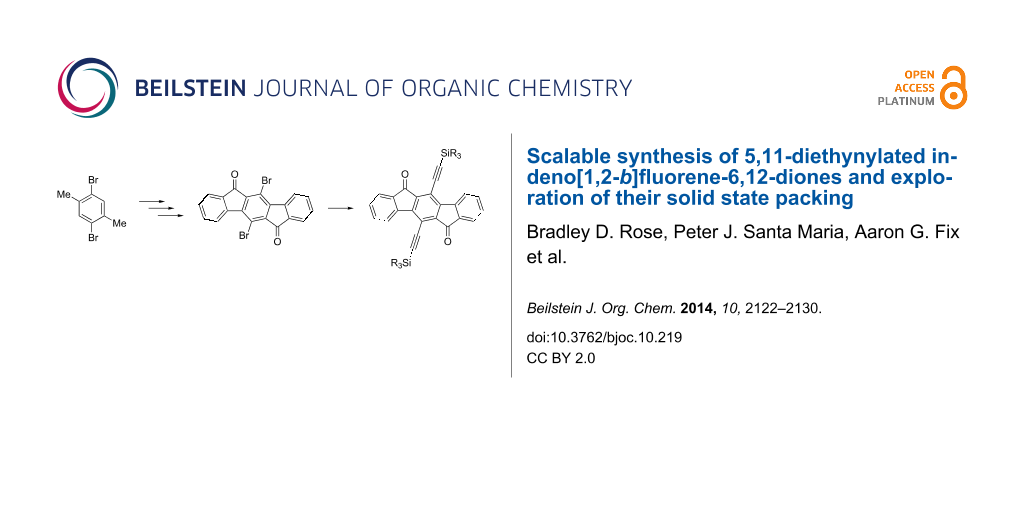Scalable synthesis of 5,11-thynylated indeno[1,2-b ... on