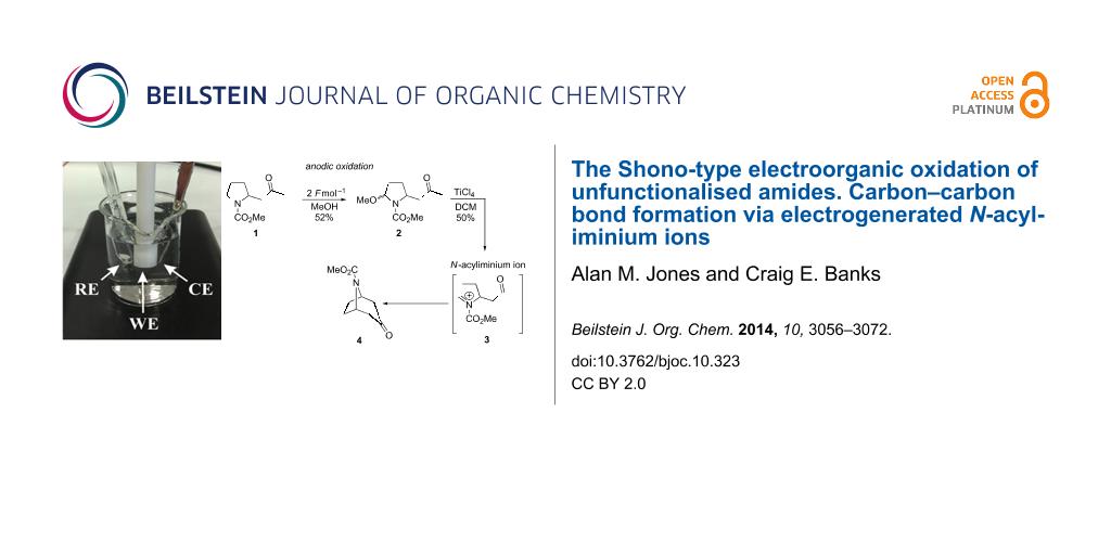 The Shono-type electroorganic oxidation of unfunctionalised amides