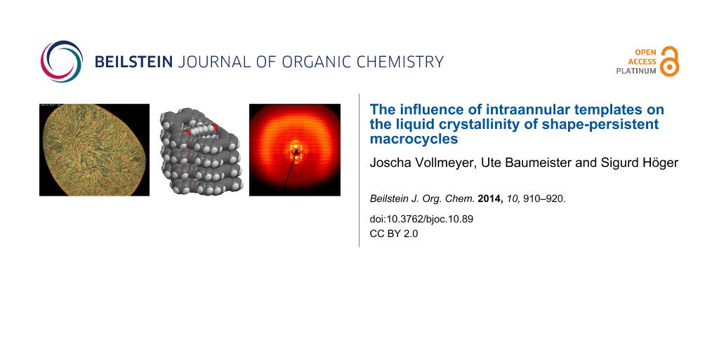 The influence of intraannular templates on the liquid crystallinity ...
