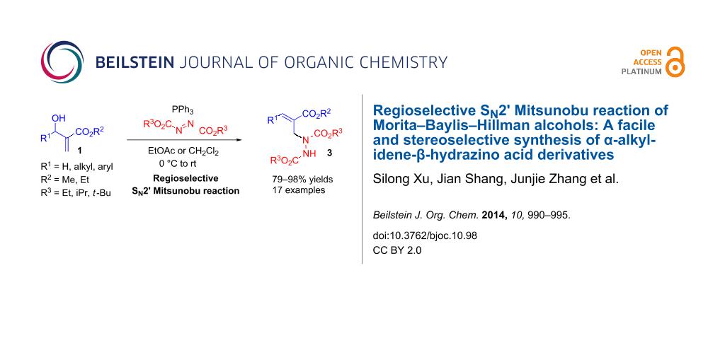 Regioselective SN2' Mitsunobu reaction of Morita–Baylis