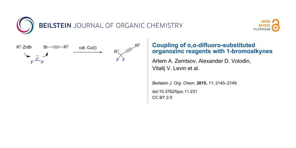 Coupling of α,α-difluoro-substituted organozinc reagents