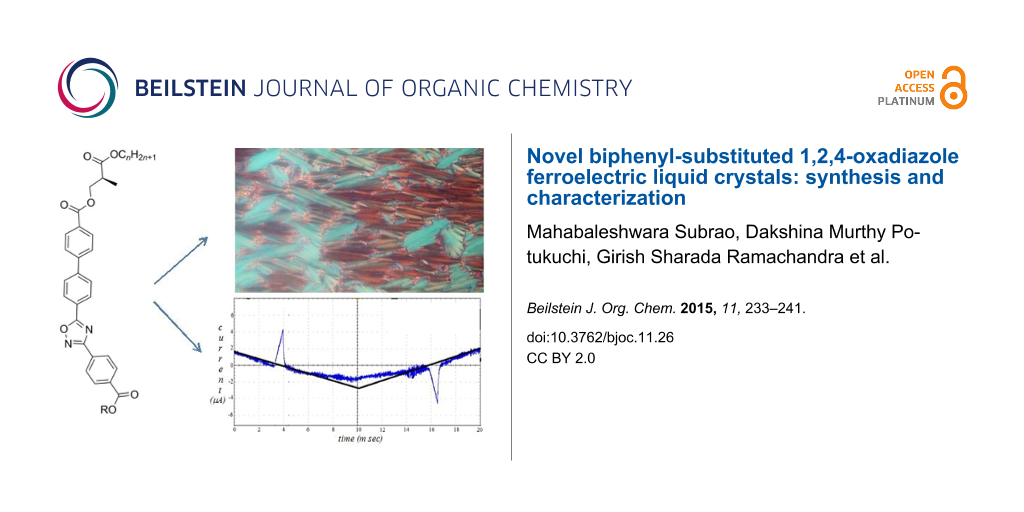 Novel biphenyl-substituted 1,2,4-oxadiazole ferroelectric liquid