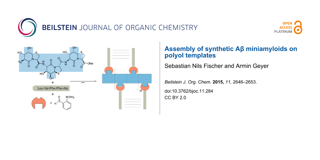 Assembly of synthetic a miniamyloids on polyol templates share graphic maxwellsz