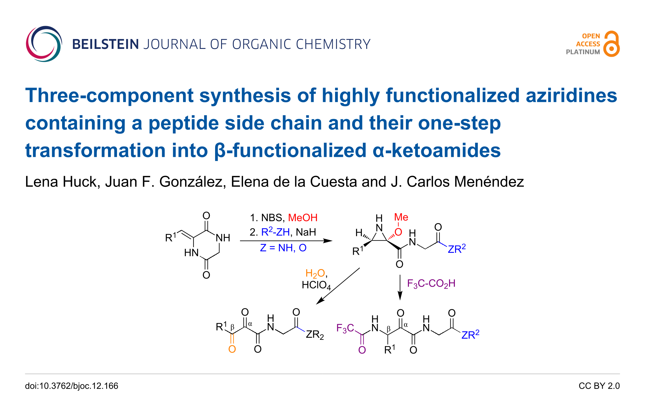Three-component synthesis of highly functionalized