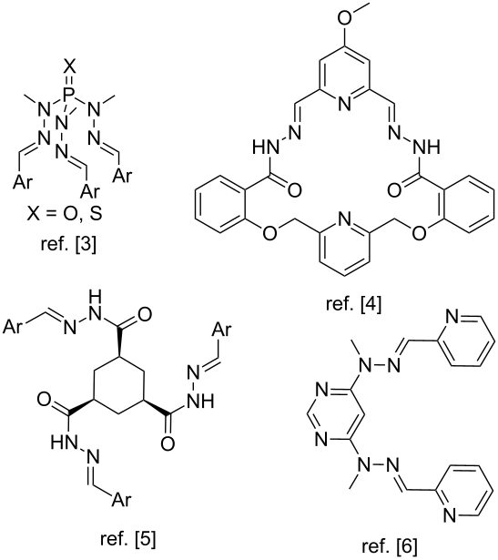 Construction of bis-, tris- and tetrahydrazones by