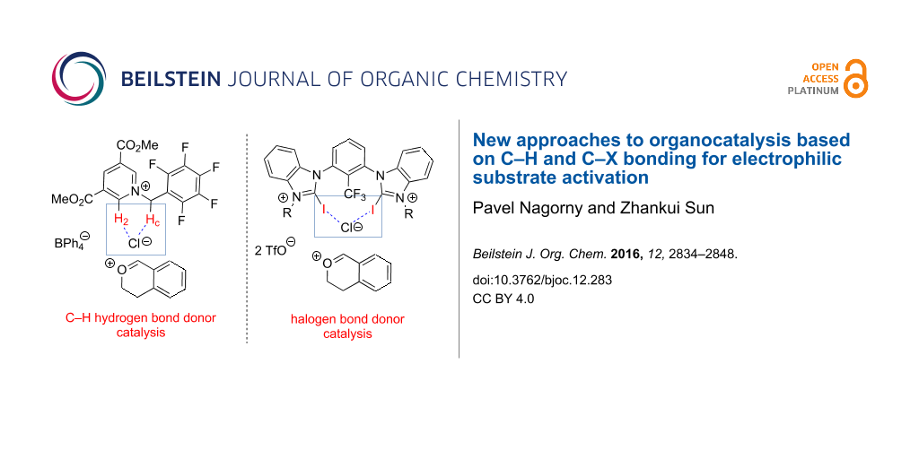 New approaches to organocatalysis based on C–H and C–X bonding for