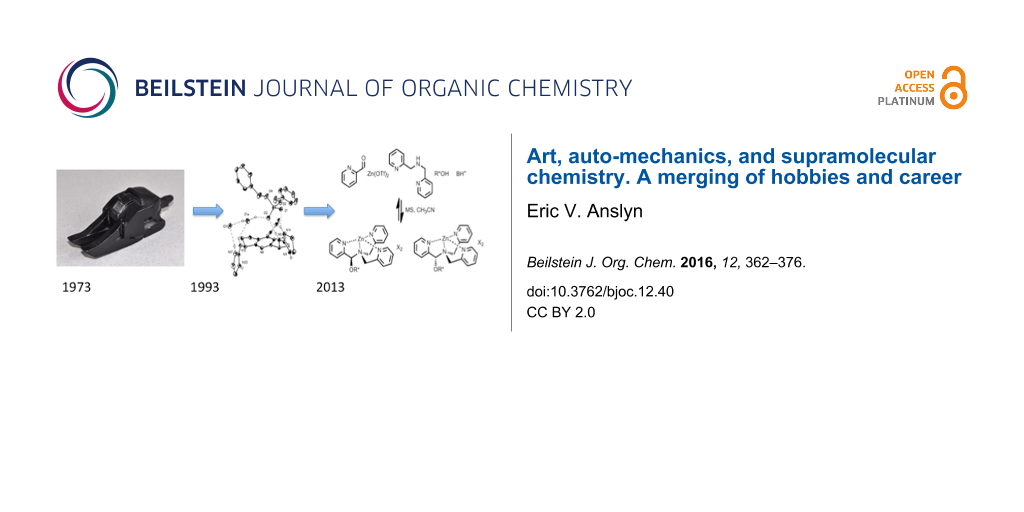 Art, auto-mechanics, and supramolecular chemistry. A merging of ...
