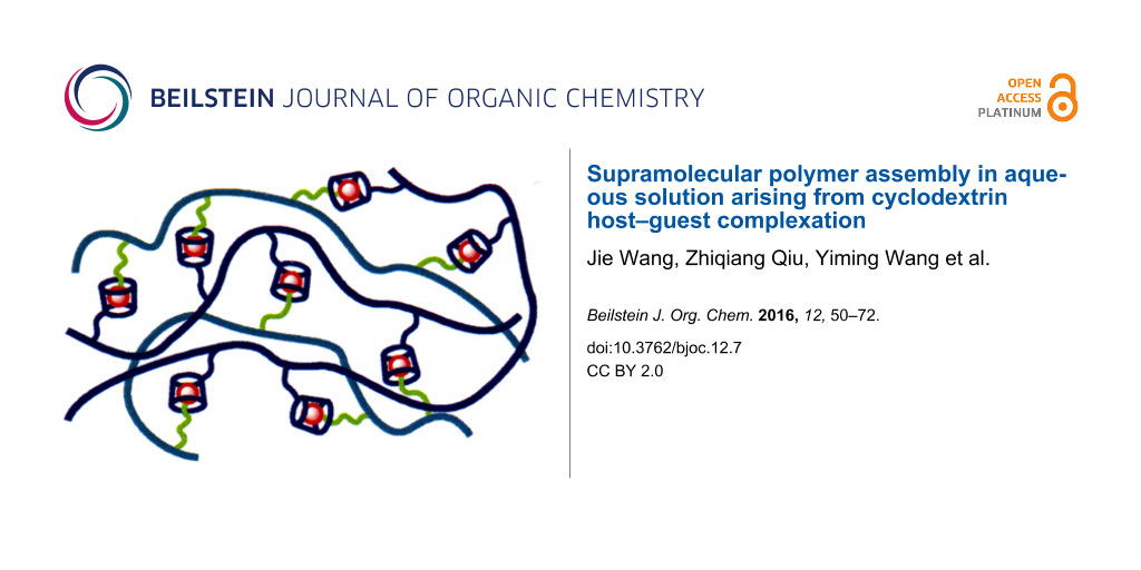 Supramolecular polymer assembly in aqueous solution arising from