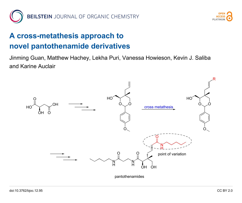 A Cross Metathesis Approach To Novel Pantothenamide Derivatives