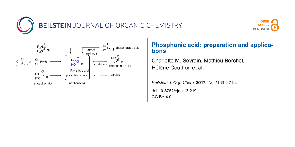 Phosphonic acid: preparation and applications