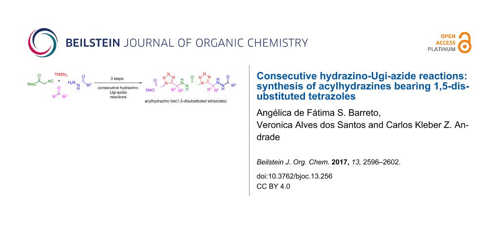 Consecutive hydrazino-Ugi-azide reactions: synthesis of