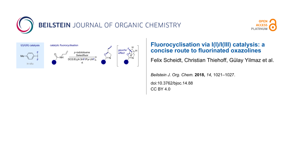 Fluorocyclisation via I(I)/I(III) catalysis: a concise route to