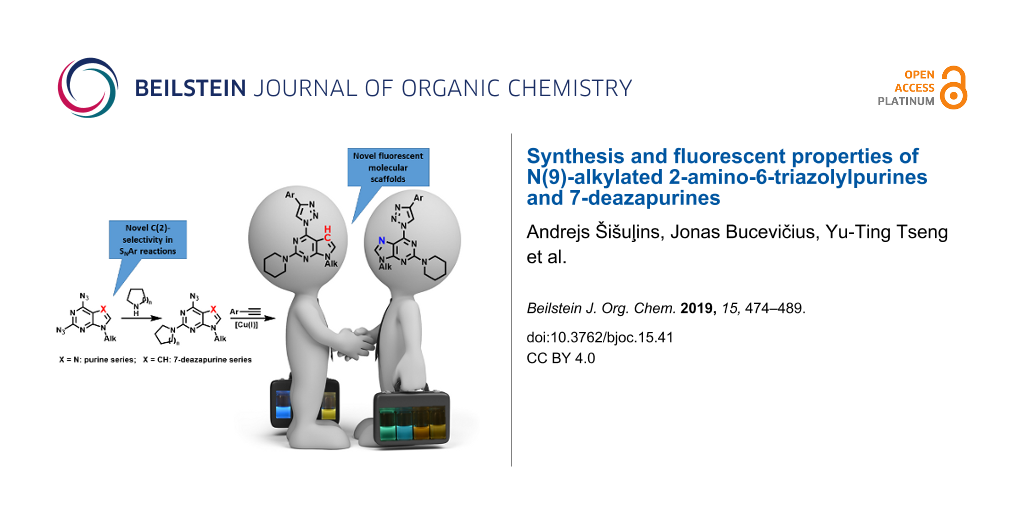 Synthesis and fluorescent properties of N(9)-alkylated 2