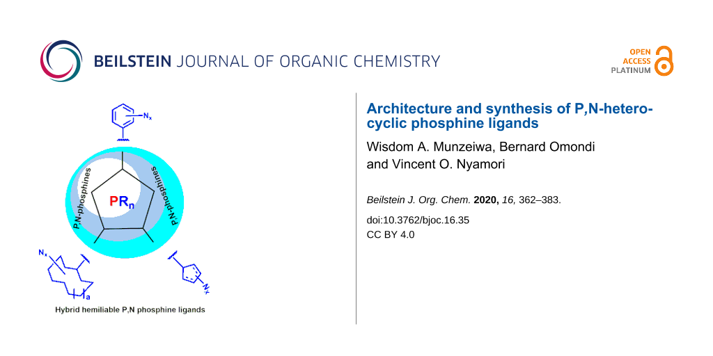 Architecture And Synthesis Of P N Heterocyclic Phosphine Ligands