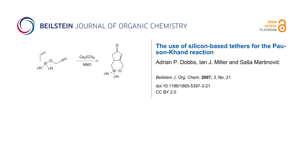 The use of silicon-based tethers for the Pauson-Khand reaction