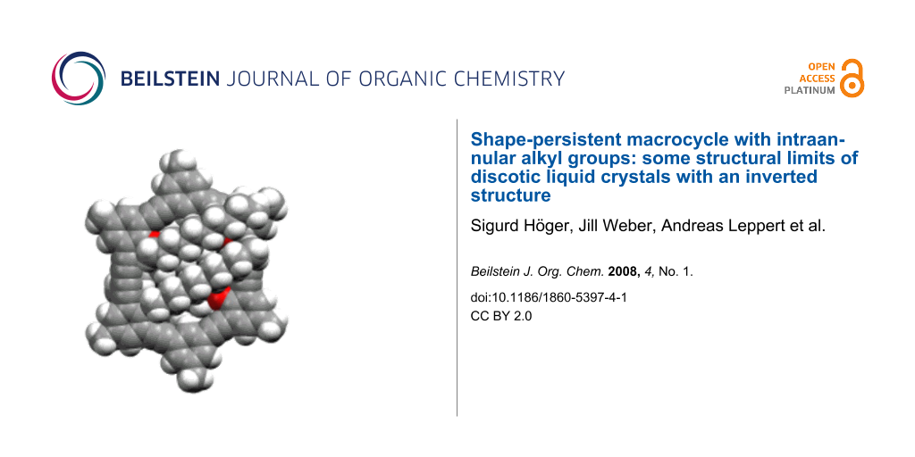 Shape-persistent macrocycle with intraannular alkyl groups: some