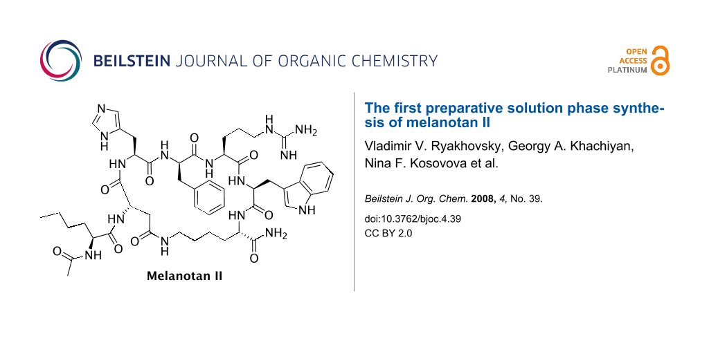 The first preparative solution phase synthesis of melanotan II