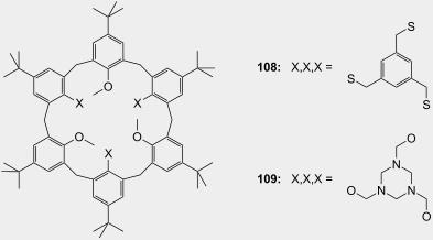 Molecular recognition of organic ammonium ions in solution