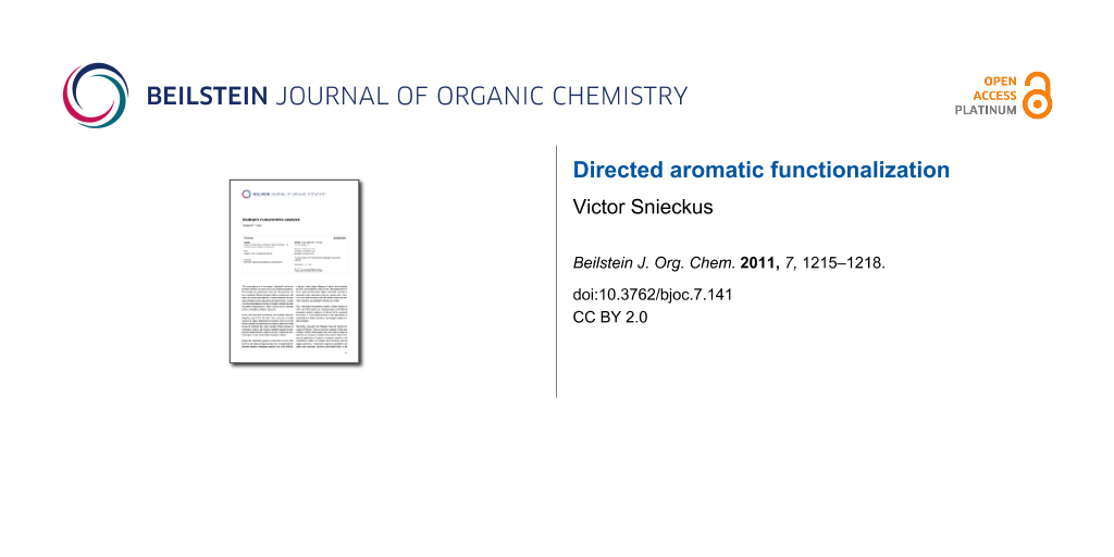 Directed aromatic functionalization