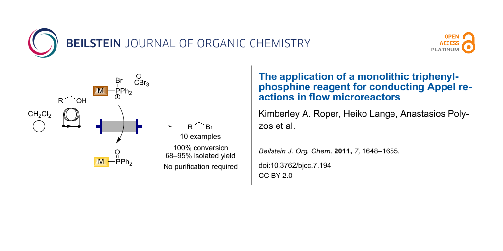 The application of a monolithic triphenylphosphine reagent