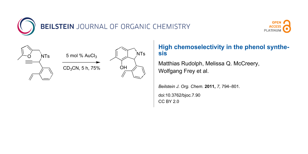 high chemoselectivity in the phenol synthesis rh beilstein journals org