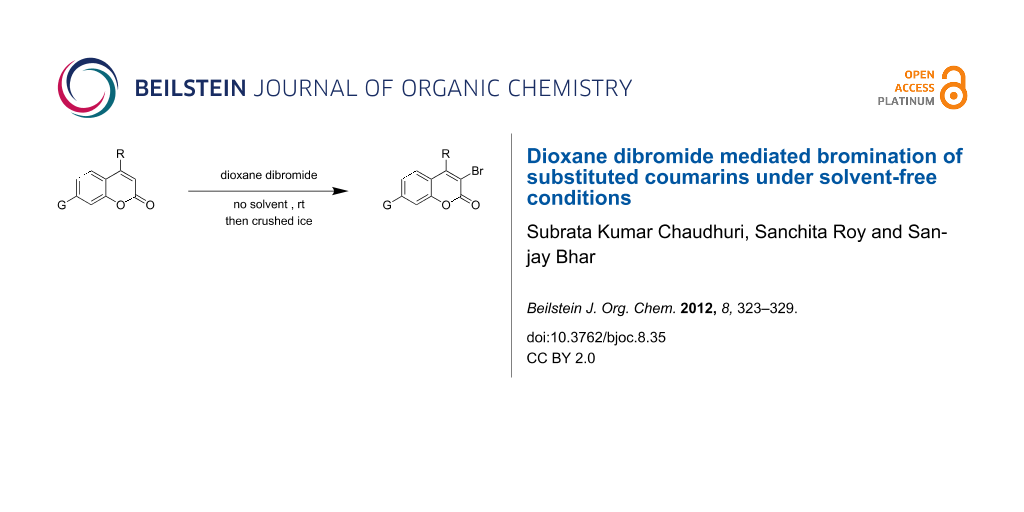 Dioxane Dibromide Mediated Bromination Of Substituted Coumarins