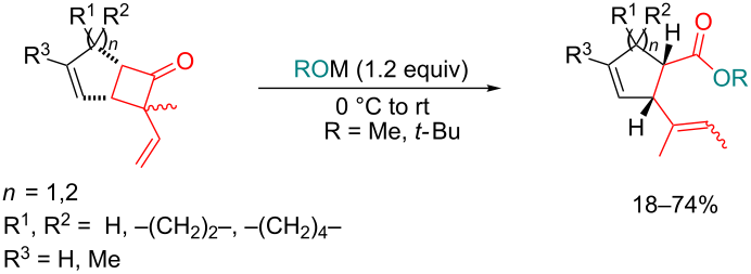 Alkoxide Induced Ring Opening Of Bicyclic 2