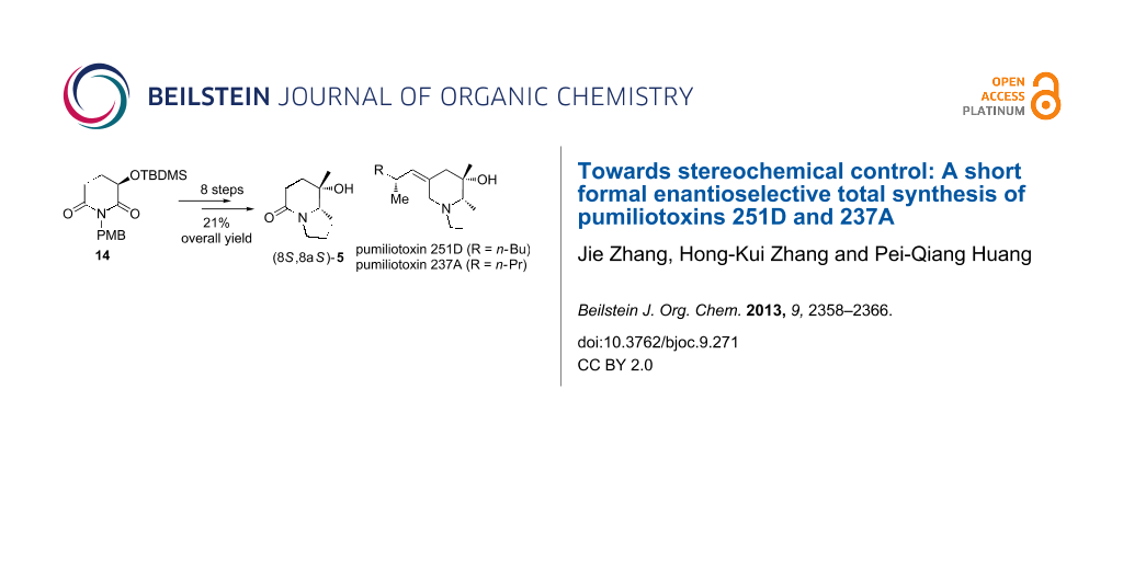 Towards stereochemical control: A short formal