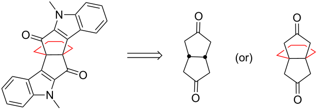 Synthesis of indole-based propellane derivatives via Weiss