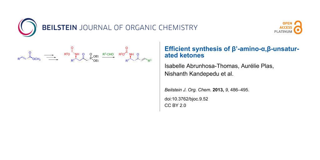 Efficient synthesis of β'-amino-α,β-unsaturated ketones