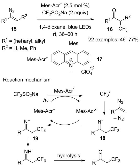 Cf3so2x X Na Cl As Reagents For Trifluoromethylation