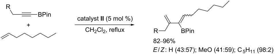 cross metathesis 1 1 disubstituted olefins Cross-metathesis can occur between 1 and terminal  a catalyst may facilitate cross-metathesis between two z-disubstituted olefins—one of which is.