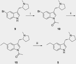 Synthesis of compounds related to the anti-migraine drug