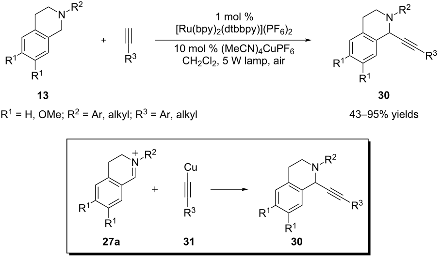 The chemistry of amine radical cations produced by visible light ...